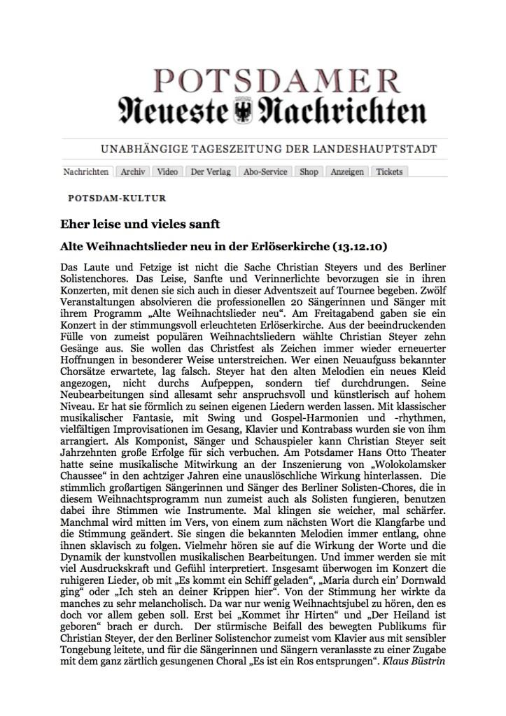Eher leise und vieles sanft_Potsdamer Neueste Nachrichten