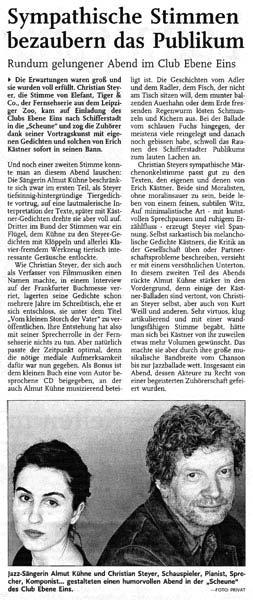 Sympathische Stimmen bezaubern das Publikum_Rheinpfalz